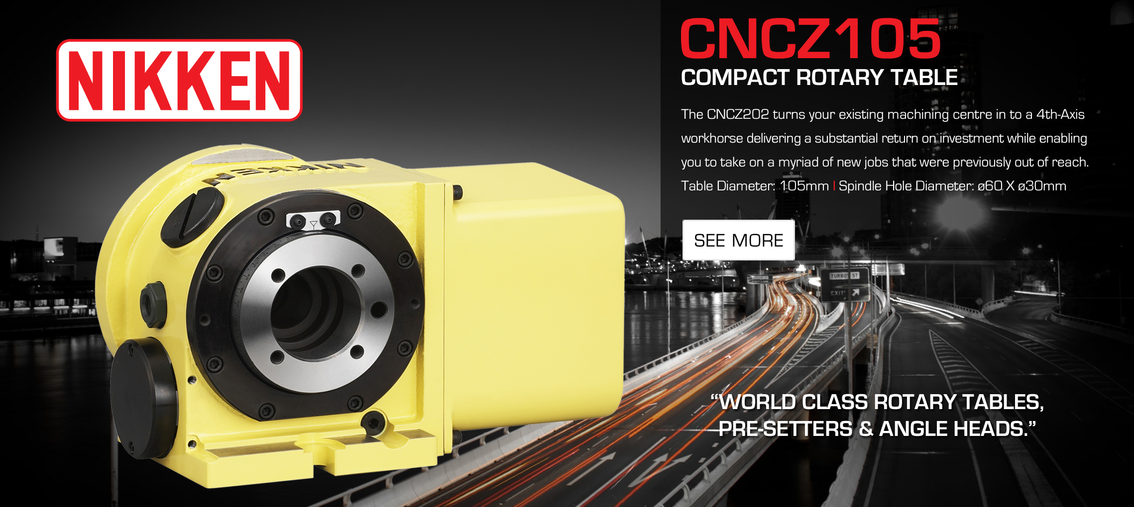 CNC105/CNCZ105 Compact Rotary Table