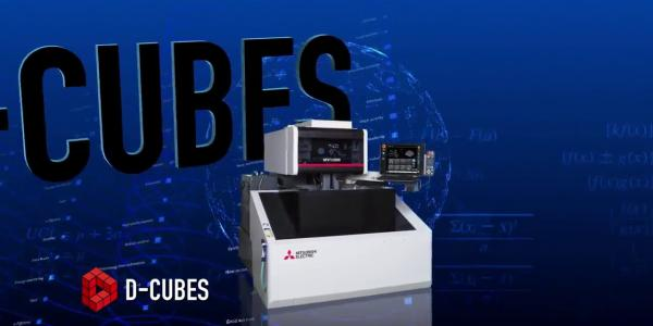 """MV Series, wire-cut EDM with all-new """"D-CUBES""""control unit